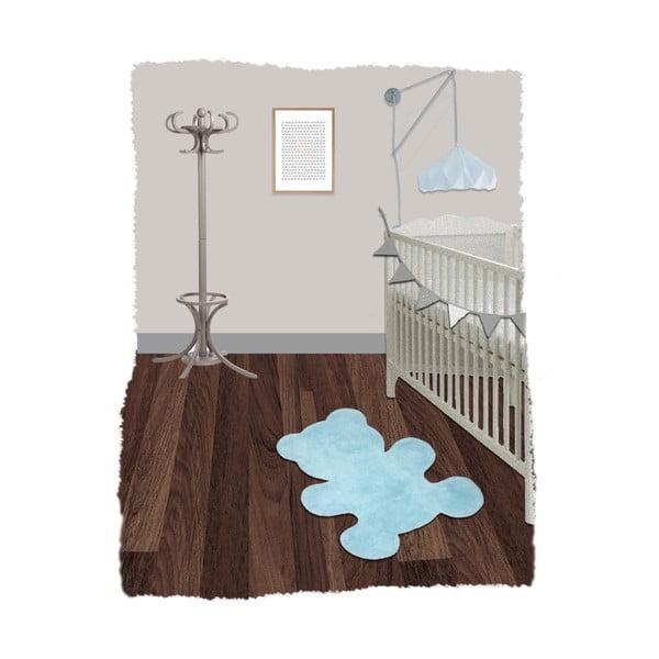 Little Teddy kék gyerekszőnyeg,  80 x 100 cm - Nattiot