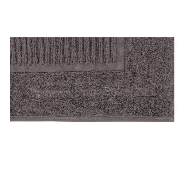 Beverly Hills Polo Club 2 darabos szürke fürdőszobaszőnyeg szett sávos mintával, 86 x 50 cm