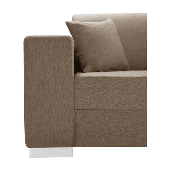 Perle világosbarna kanapé, jobb oldalas - Interieur De Famille Paris