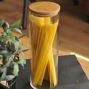Alpha spagettitároló bambusz fedéllel - Bambum