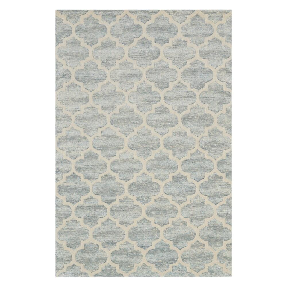 Diamond világoskék kézzel készített szőnyeg, 153 x 244 cm