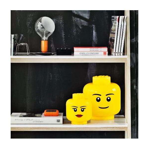 Fiú minifigura fej tároló, Ø 24,2 cm - LEGO®
