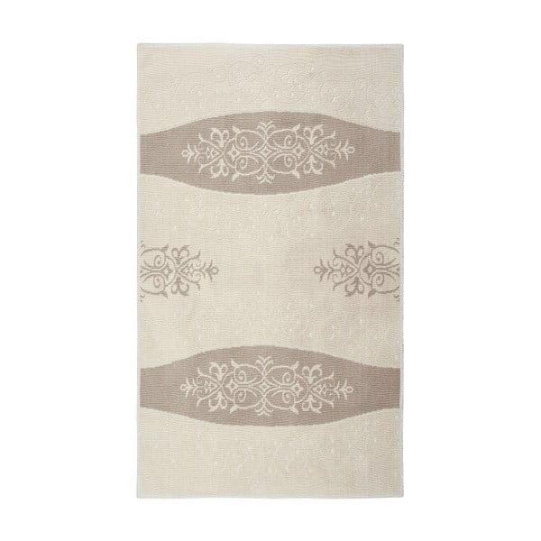 Floorist Decor krémszínű gyapotszőnyeg, 120 x 180 cm