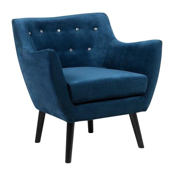 Joey kék fotel bársony kárpittal - Monobeli