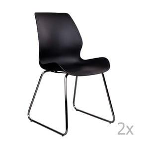 Sola 2 db-os fekete székkészlet - House Nordic