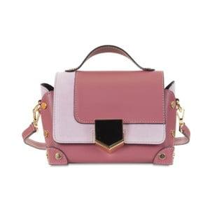 Růžová kožená kabelka Infinitif Chelsea