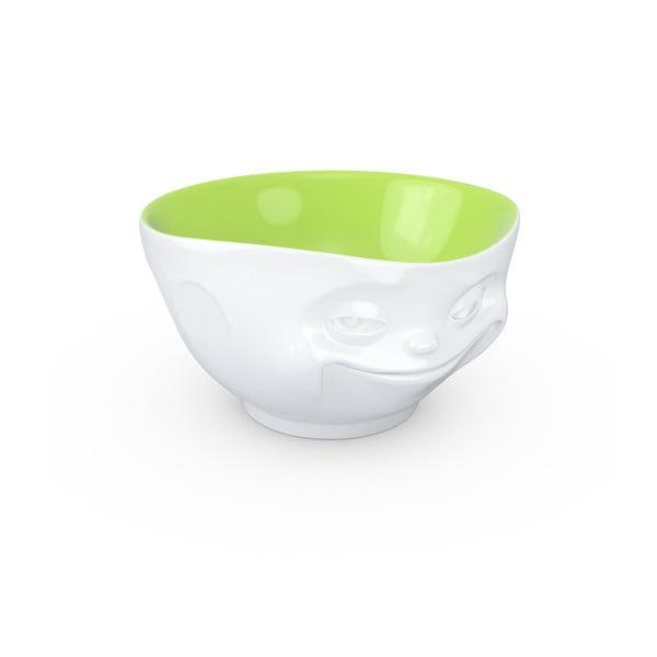 Fehér-zöld mosolygós porcelán edény - 58products