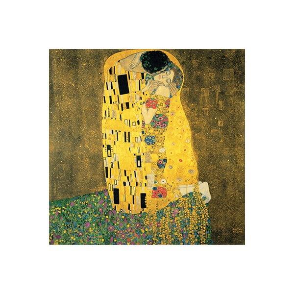 Gustav Klimt - The Kiss kép másolat, 70 x 70 cm