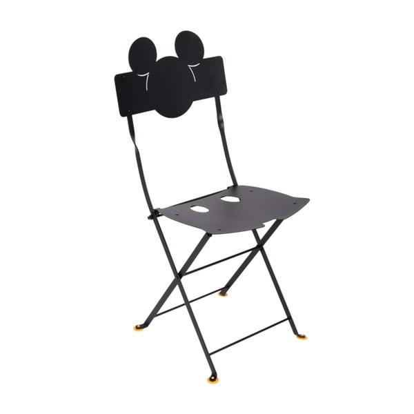 Bistro Mickey fekete fém kerti szék, 2 db - Fermob