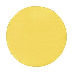 Sárga szőnyeg, Ø 133 cm - Hanse Home
