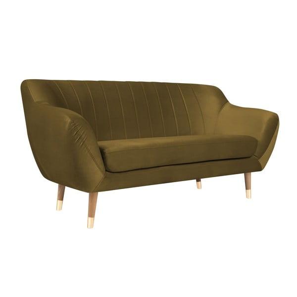 Benito aranyszínű kétszemélyes kanapé - Mazzini Sofas