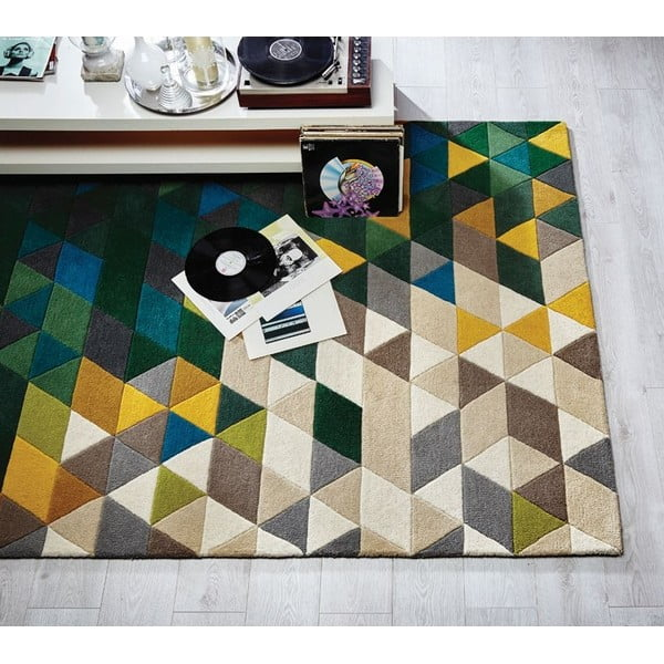 Illusion Prism gyapjú szőnyeg, 120 x 170 cm - Flair Rugs