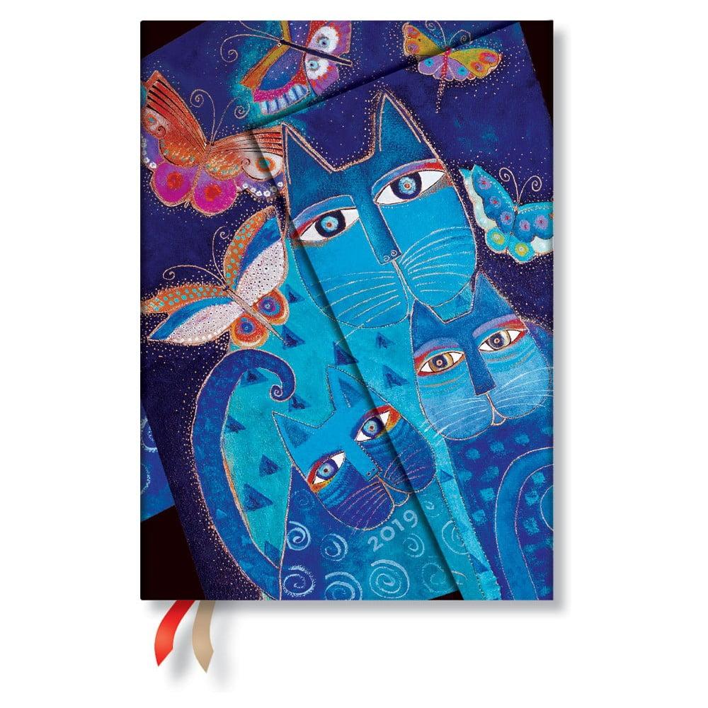 3a36c5c272 Blue Cats & Butterflies Horizontal 2019-es határidőnapló, 13 x 18 cm -  Paperblanks