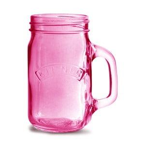 Rózsaszín pohár, 350 ml - Kilner