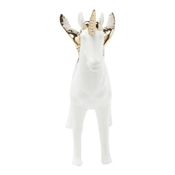 Figurine Unicorn fehér dekoráció, aranyszínű részletekkel - Kare Design