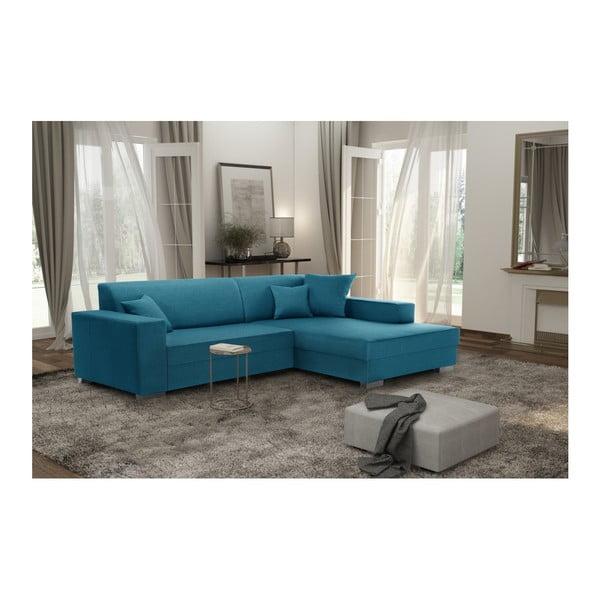 Perle világostürkiz kanapé, jobb oldalas - Interieur De Famille Paris