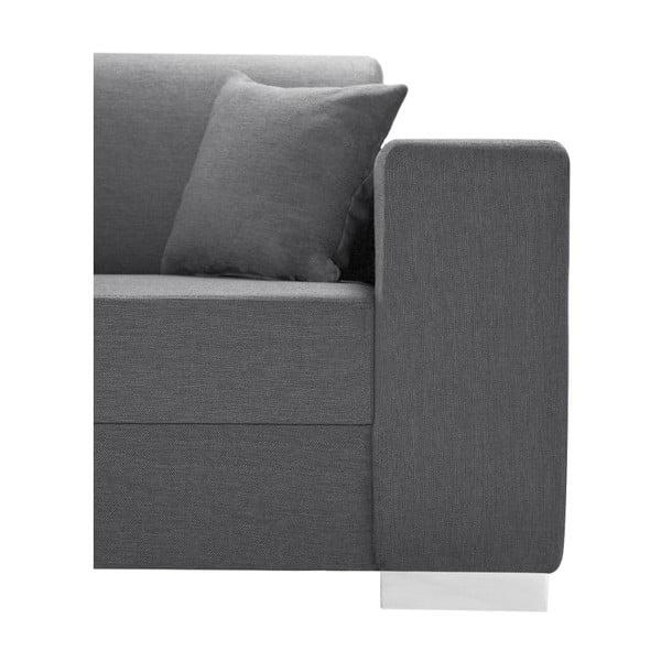 Perle sötétszürke kanapé, bal oldalas - Interieur De Famille Paris