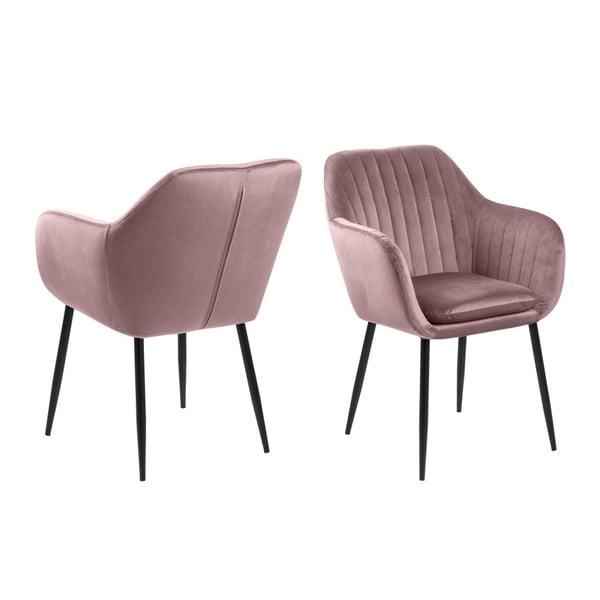 Emilia rózsaszín kárpitozott fotel - Actona