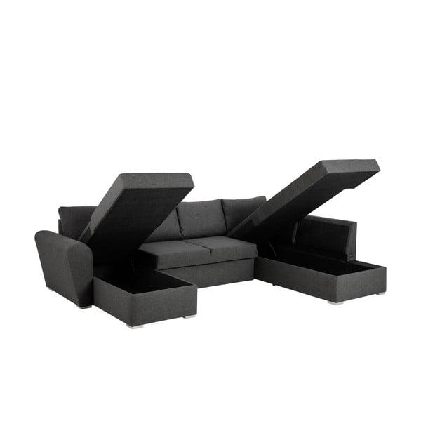 Stanford szürke kinyitható kanapé tárolóhellyel, jobb oldali - Actona