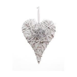 Snowflake szívalakú függődísz, magasság 39 cm - Ego Dekor