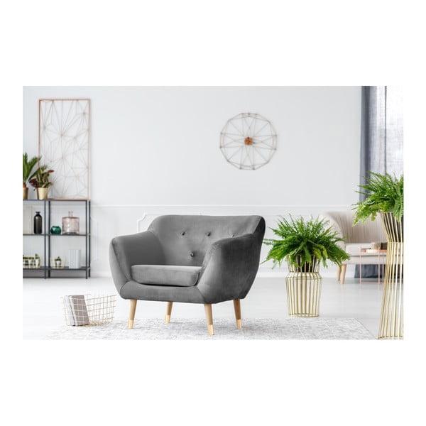 Amelie szürke fotel - Mazzini Sofas
