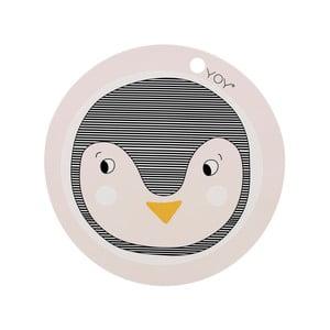 Penguin szilikonos, gyerek tányéralátét, ⌀ 39 cm - OYOY