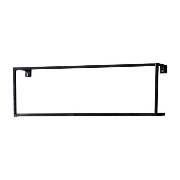 Meert fekete polc, hosszúság 50 cm - WOOOD