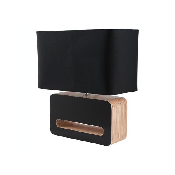 Wood fekete asztali lámpa - Zuiver