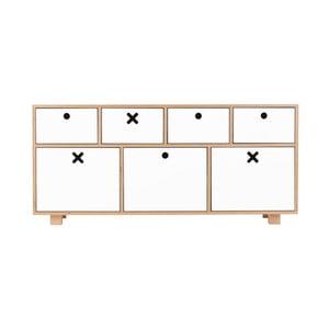 Alacsony fehér szekrény - Durbas Style
