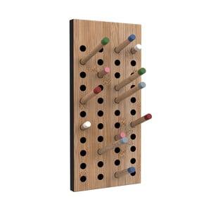 Scoreboard variálható Moso-bambusz fali fogas, magassága 36 cm - We Do Wood