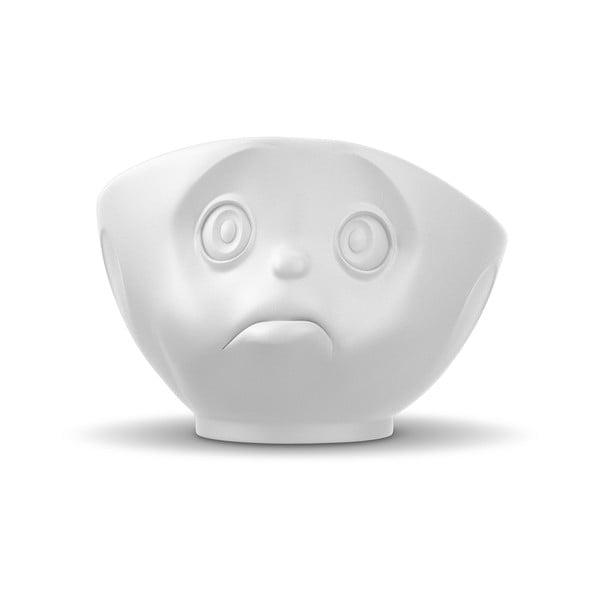 Matt fehér 'szomorú' porcelán tálka - 58products
