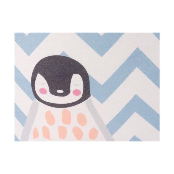 Pingvin mintás gyerek puff, 40 x 40 cm - KICOTI