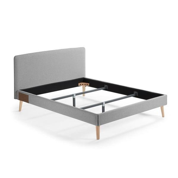 Lydia szürke kétszemélyes ágy, 200 x 160 cm - La Forma