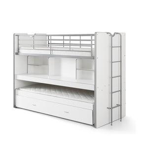 Bonny fehér emeletes ágy polcokkal, 220 x 100 cm - Vipack