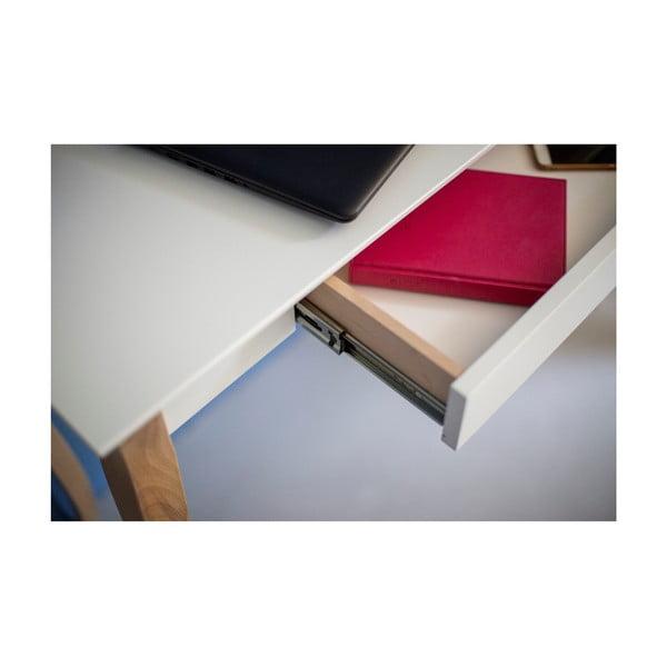 Lillo fehér íróasztal, hosszúság 85 cm - Ragaba