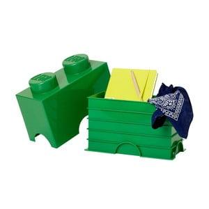 Zöld dupla tárolódoboz - LEGO®