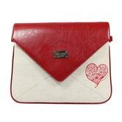 Envelope No.519 piros-bézs retikül - Dara bags