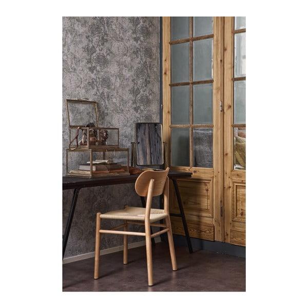 Jointly natúr fa étkezőszék kaucsukfából, rattan ülőrésszel - BePureHome
