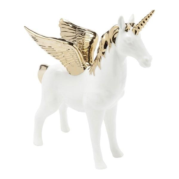 Figurine Unicorn fehér dekoráció aranyszínű részletekkel - Kare Design