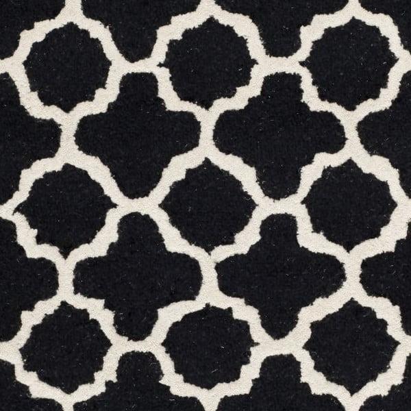 Bessa fekete gyapjú szőnyeg, 152 x 243 cm - Safavieh