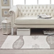 Cream Floral pamut szőnyeg, 120 x 180 cm