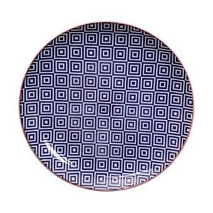 Geo Eclectic kék tálka, 25,7 cm - Tokyo Design Studio