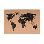 World fém falitérkép, 60 x 40 cm - PT LIVING