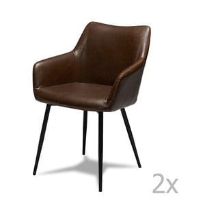Maria sötétbarna székkészlet, 2 részes - Furnhouse