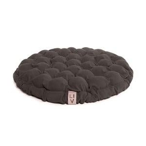 Bloom barnásszürke ülőpárna masszázsgolyókkal, ⌀ 65 cm - Linda Vrňáková