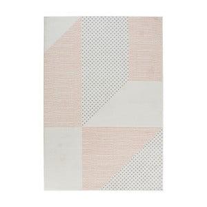 Madison krémszínű-rózsaszín szőnyeg, 200 x 290 cm - Mint Rugs