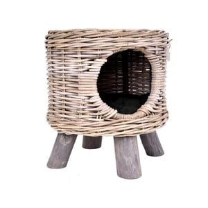 Nature macskaház rattanból - Esschert Design