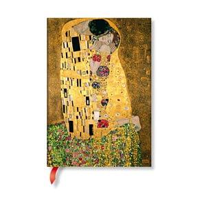 Klimt´s Portrait of Kiss keménytáblás sima jegyzetfüzet, 13 x 18 cm - Paperblanks
