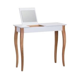 Dressing Table fehér fésülködőasztal tükörrel, hossza 85 cm - Ragaba