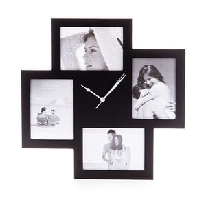Collage fekete falióra képkerettel - Tomasucci